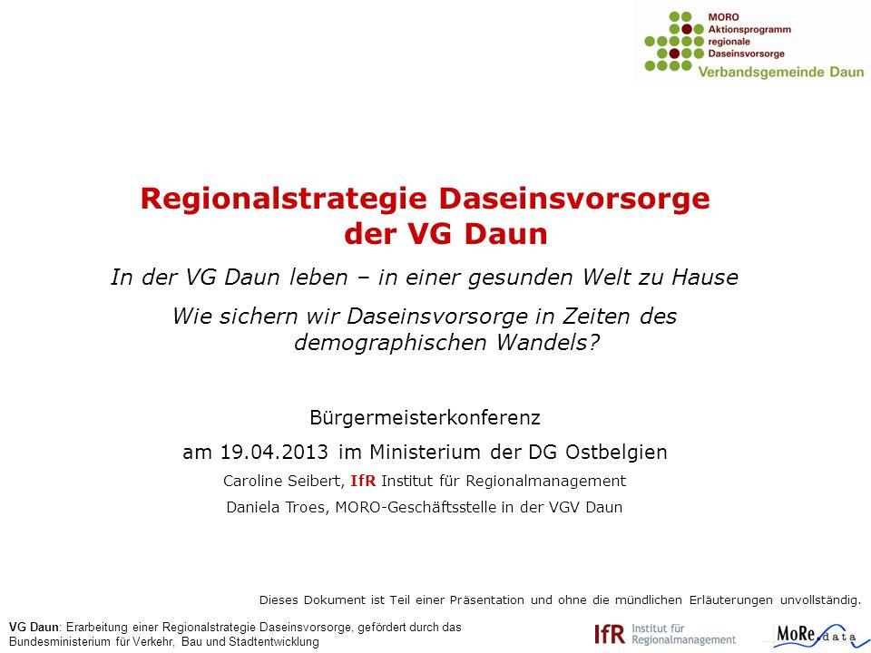 Regionalstrategie Daseinsvorsorge der VG Daun
