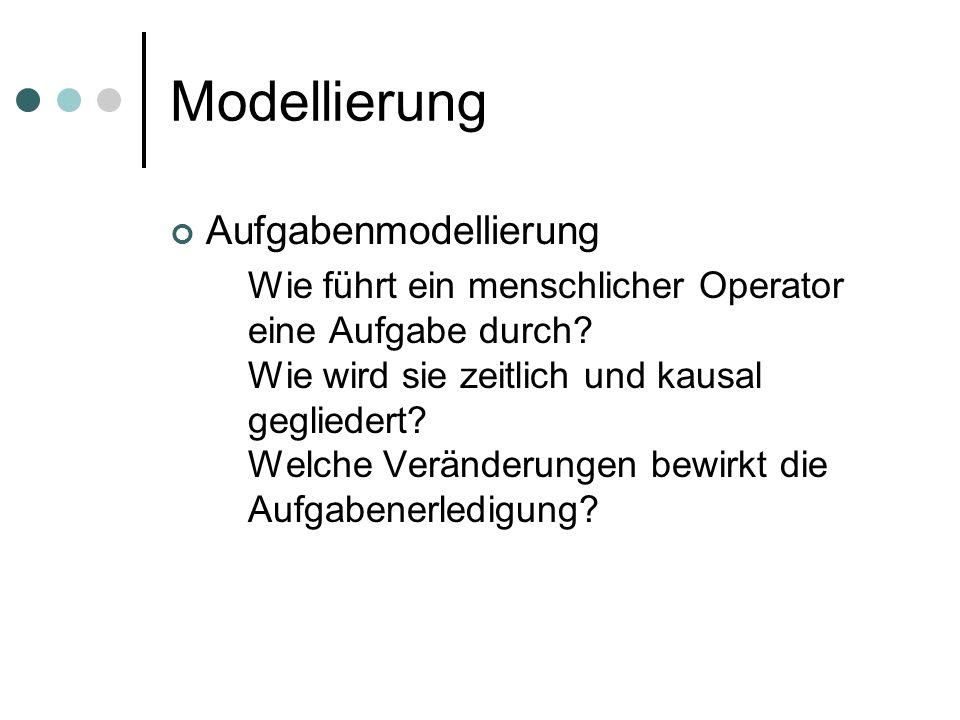 Modellierung Aufgabenmodellierung
