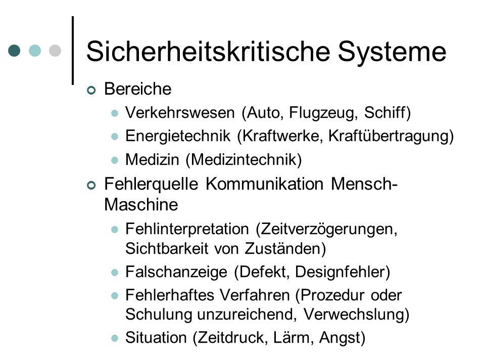 Sicherheitskritische Systeme