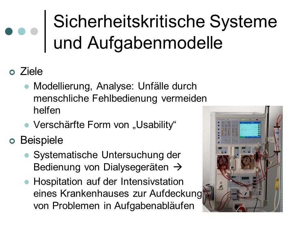Sicherheitskritische Systeme und Aufgabenmodelle