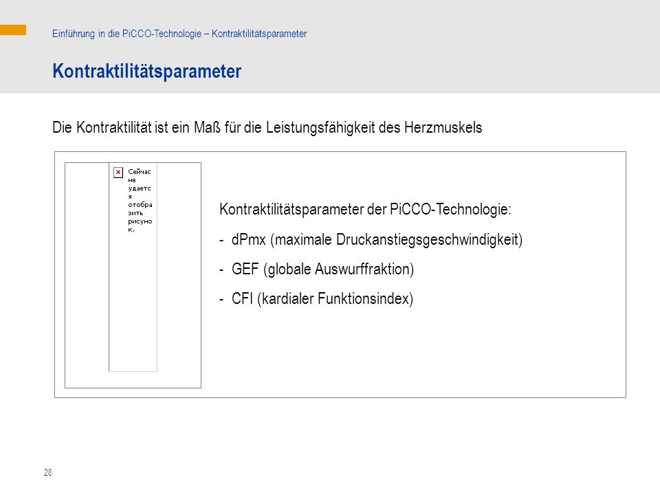 kg Kontraktilitätsparameter