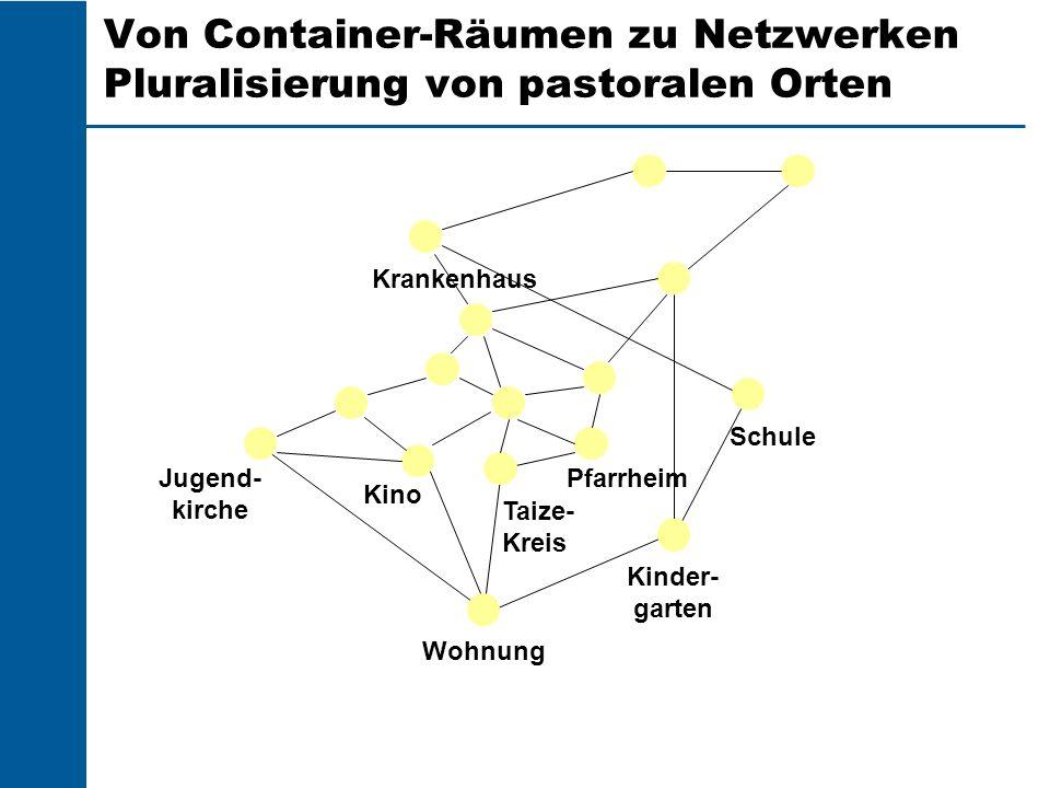 Von Container-Räumen zu Netzwerken Pluralisierung von pastoralen Orten