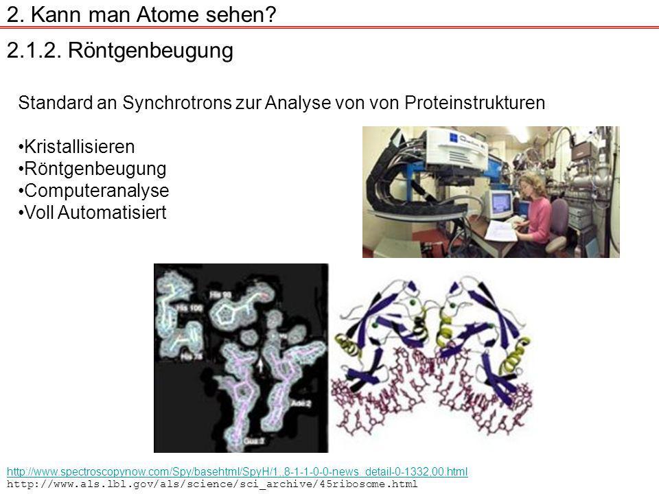2. Kann man Atome sehen 2.1.2. Röntgenbeugung