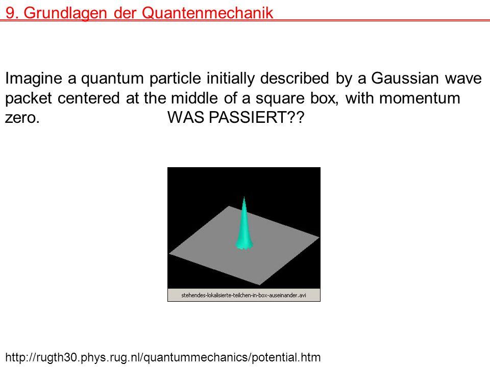 9. Grundlagen der Quantenmechanik