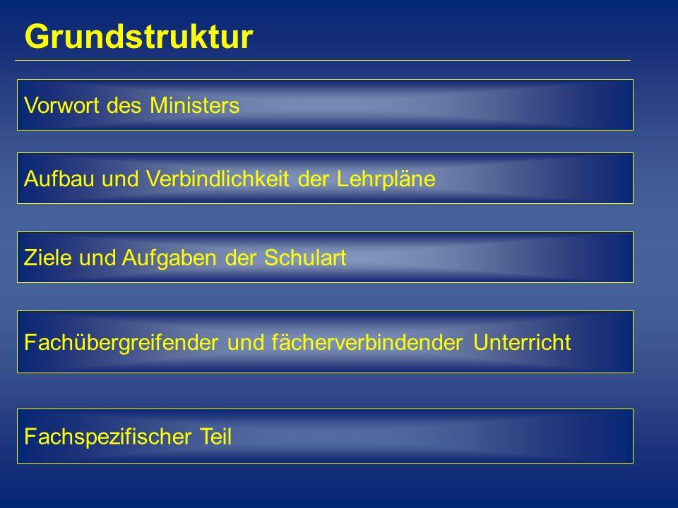 Grundstruktur Vorwort des Ministers