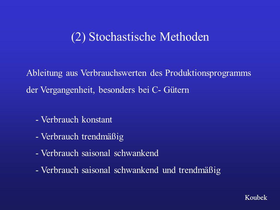 (2) Stochastische Methoden