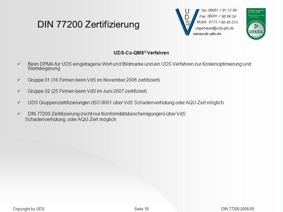 UDS-Co-QMS® Verfahren