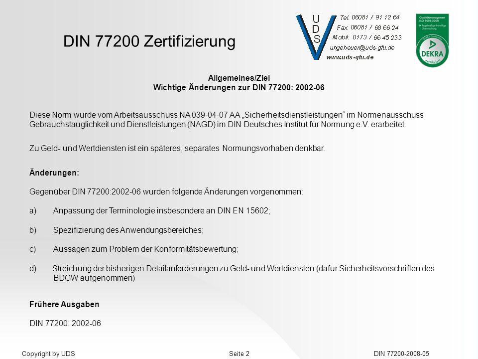 Wichtige Änderungen zur DIN 77200: 2002-06