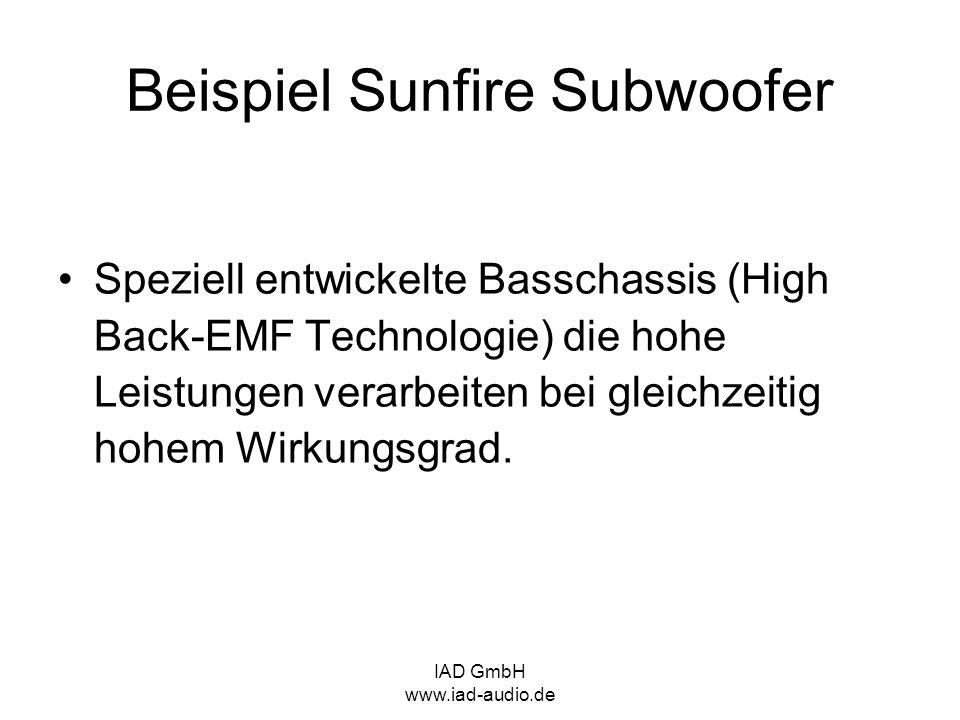 Beispiel Sunfire Subwoofer