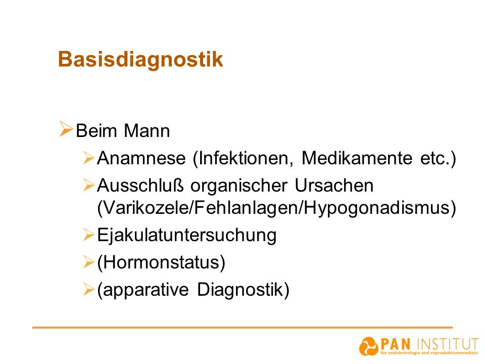Basisdiagnostik Beim Mann Anamnese (Infektionen, Medikamente etc.)