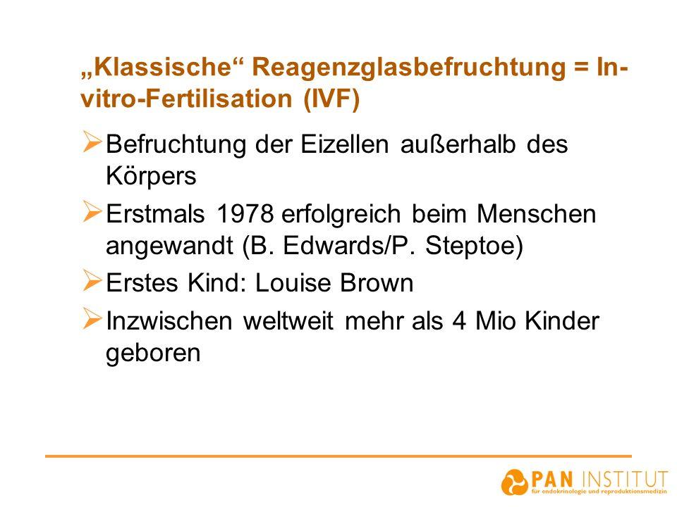 """""""Klassische Reagenzglasbefruchtung = In-vitro-Fertilisation (IVF)"""