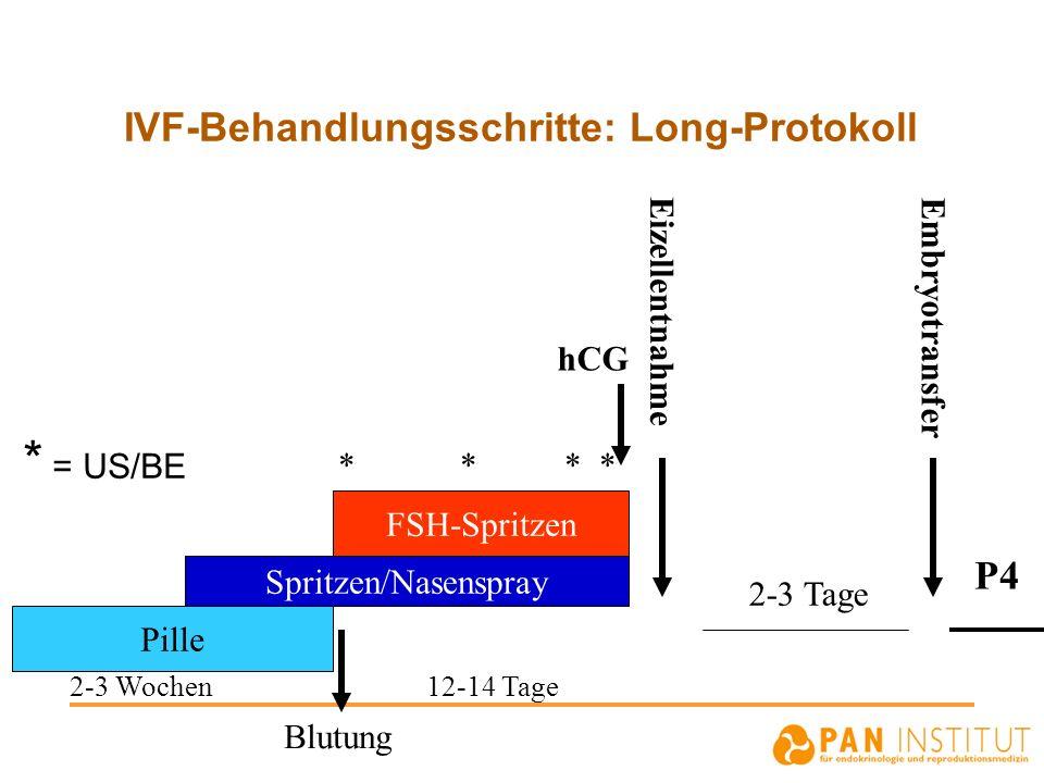 IVF-Behandlungsschritte: Long-Protokoll