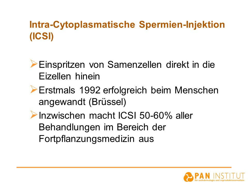 Intra-Cytoplasmatische Spermien-Injektion (ICSI)