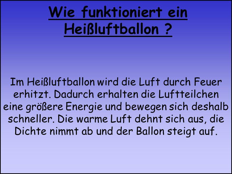 Wie funktioniert ein Heißluftballon