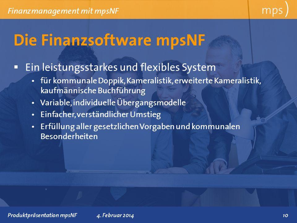 Die Finanzsoftware mpsNF