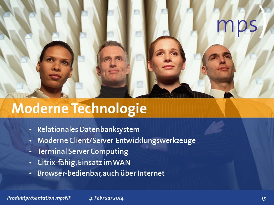 mps) Moderne Technologie Relationales Datenbanksystem