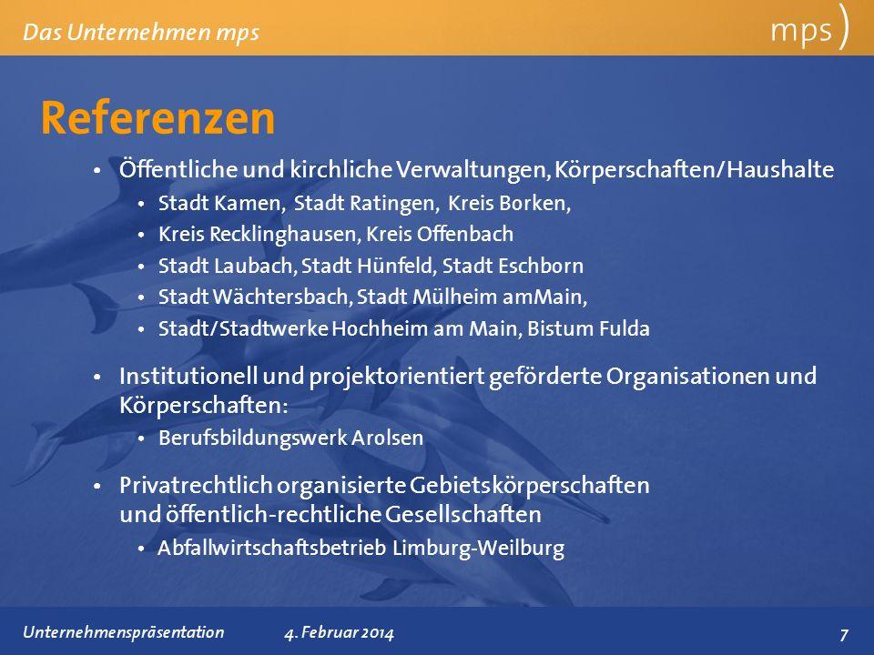 Referenzen mps ) Das Unternehmen mps