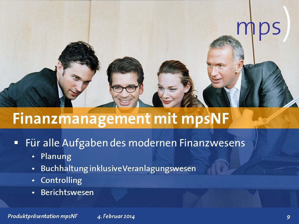 mps) Finanzmanagement mit mpsNF