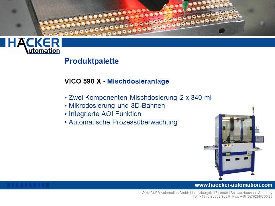Produktpalette VICO 590 X - Mischdosieranlage I
