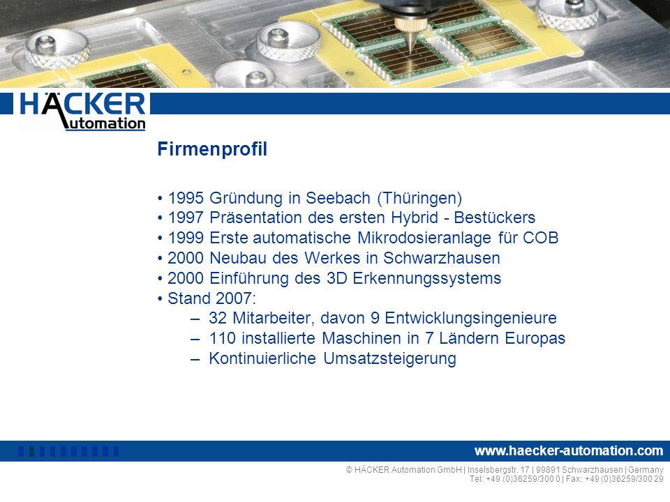 Firmenprofil 1995 Gründung in Seebach (Thüringen)