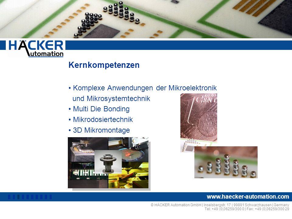 Kernkompetenzen Komplexe Anwendungen der Mikroelektronik
