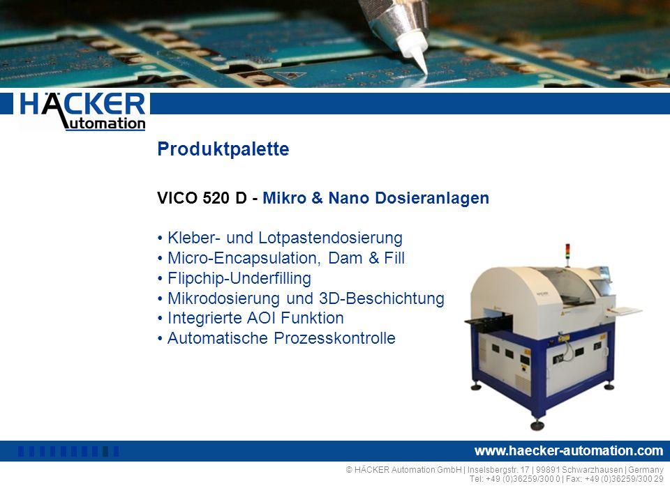 Produktpalette VICO 520 D - Mikro & Nano Dosieranlagen