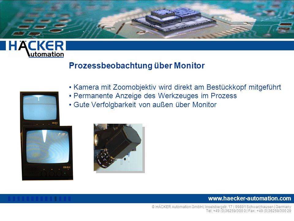 Prozessbeobachtung über Monitor