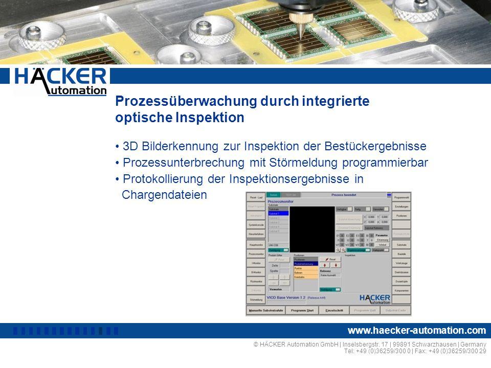 Prozessüberwachung durch integrierte optische Inspektion