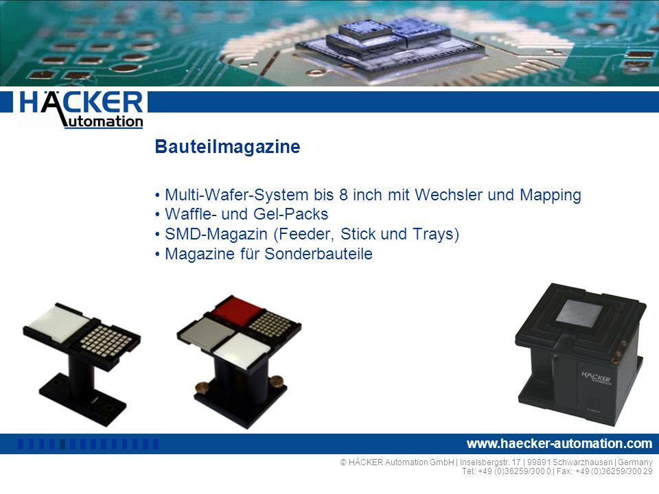 Bauteilmagazine Multi-Wafer-System bis 8 inch mit Wechsler und Mapping