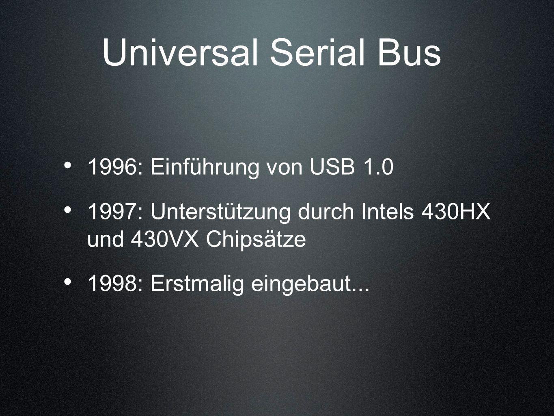 Universal Serial Bus 1996: Einführung von USB 1.0