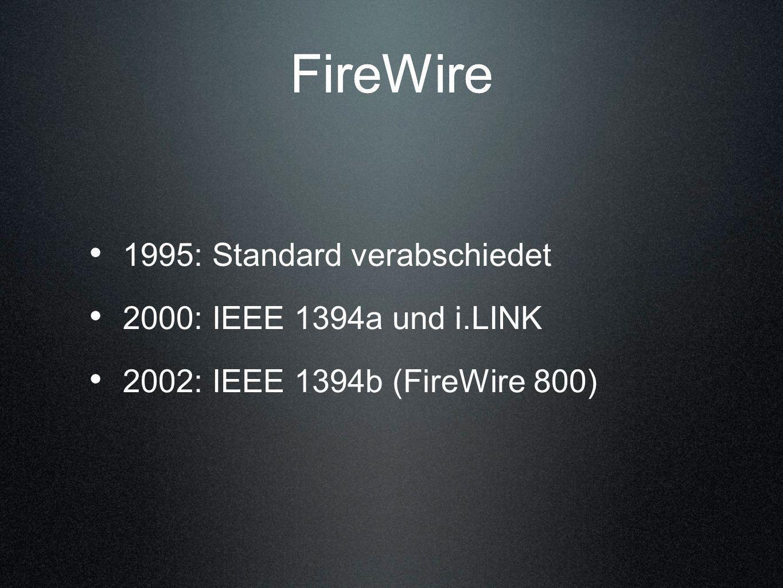 FireWire FireWire 1995: Standard verabschiedet
