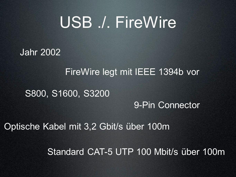 FireWire legt mit IEEE 1394b vor