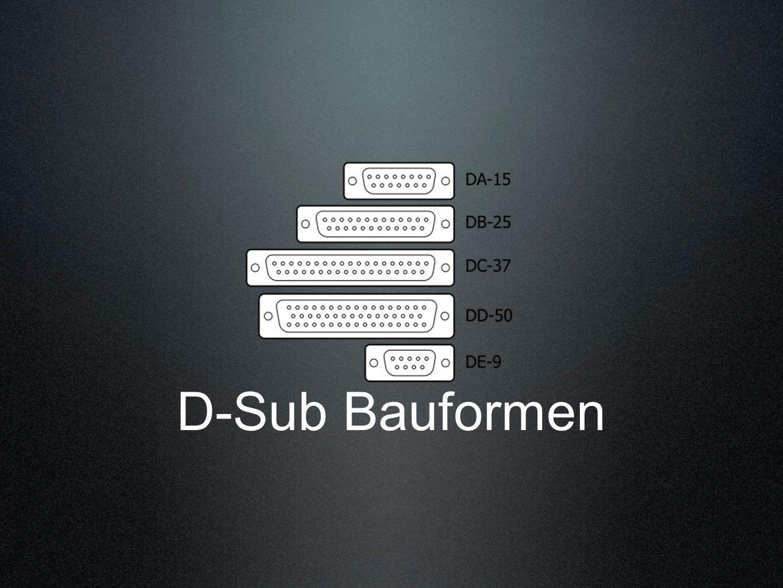 D-Sub Bauformen