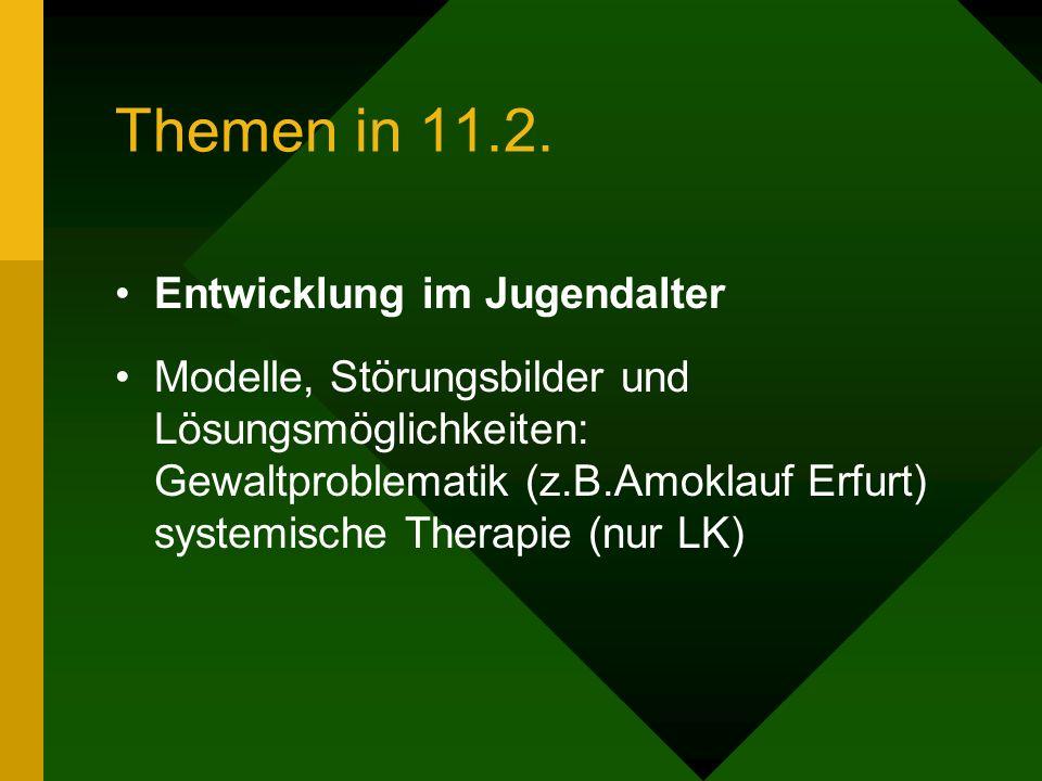 Themen in 11.2. Entwicklung im Jugendalter
