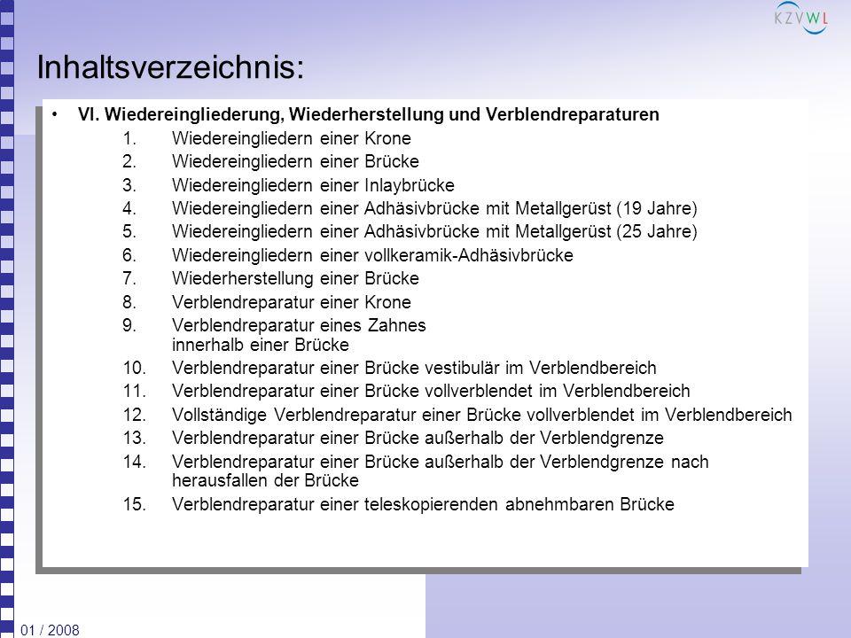 Inhaltsverzeichnis: VI. Wiedereingliederung, Wiederherstellung und Verblendreparaturen. Wiedereingliedern einer Krone.
