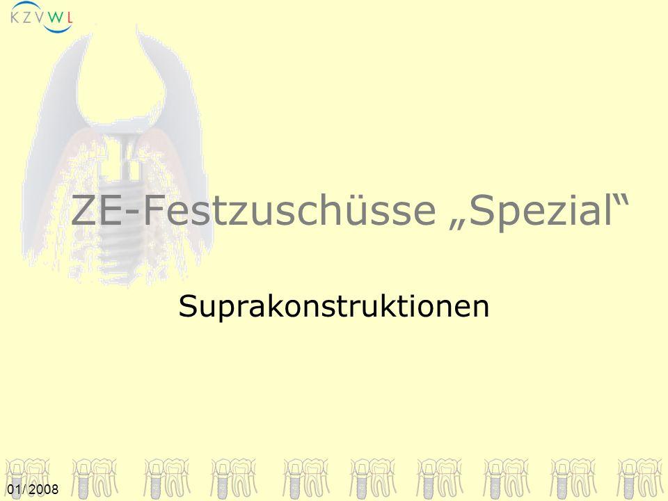 """ZE-Festzuschüsse """"Spezial"""