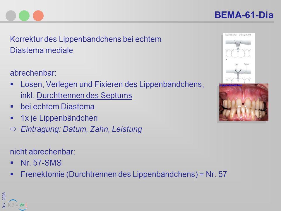 BEMA-61-Dia Korrektur des Lippenbändchens bei echtem Diastema mediale