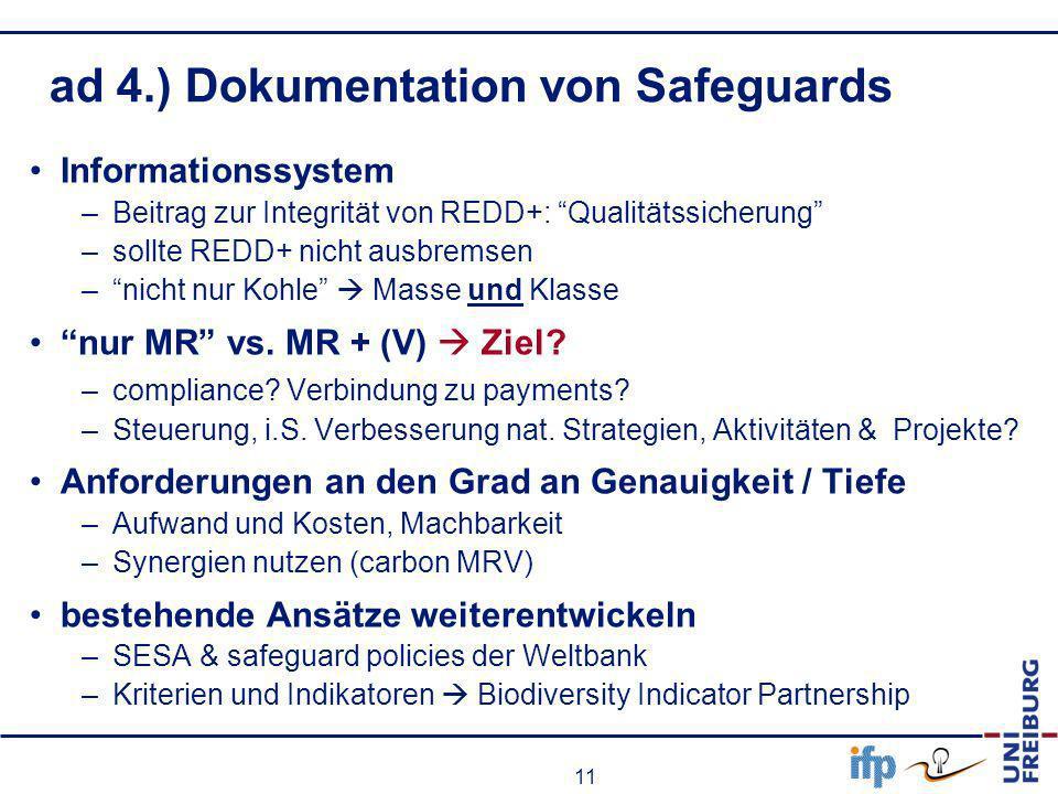 ad 4.) Dokumentation von Safeguards