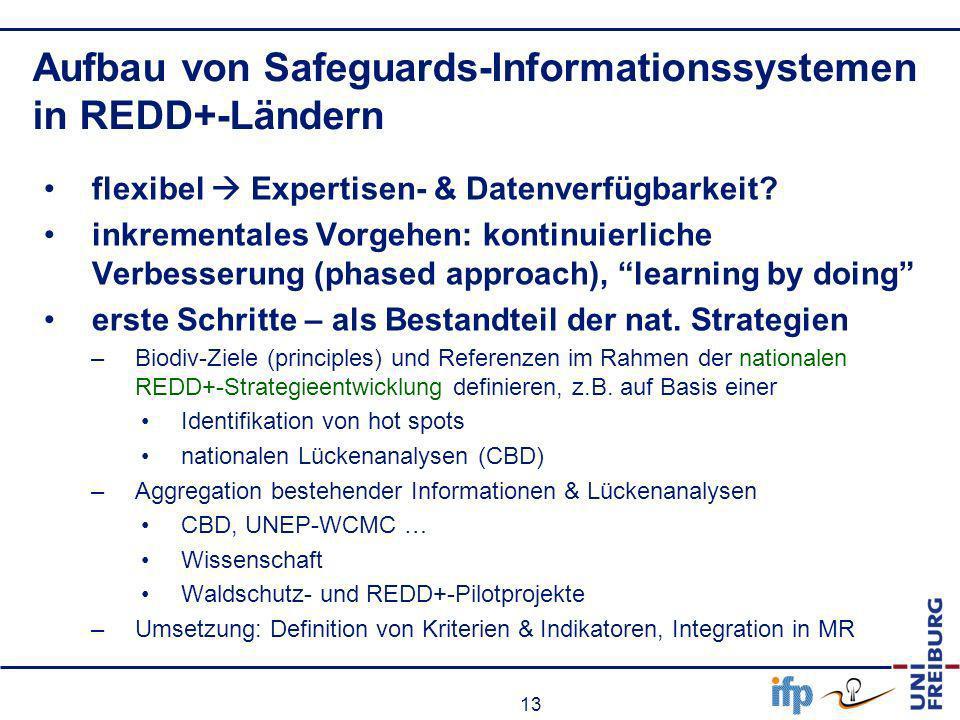 Aufbau von Safeguards-Informationssystemen in REDD+-Ländern