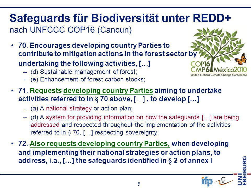Safeguards für Biodiversität unter REDD+ nach UNFCCC COP16 (Cancun)