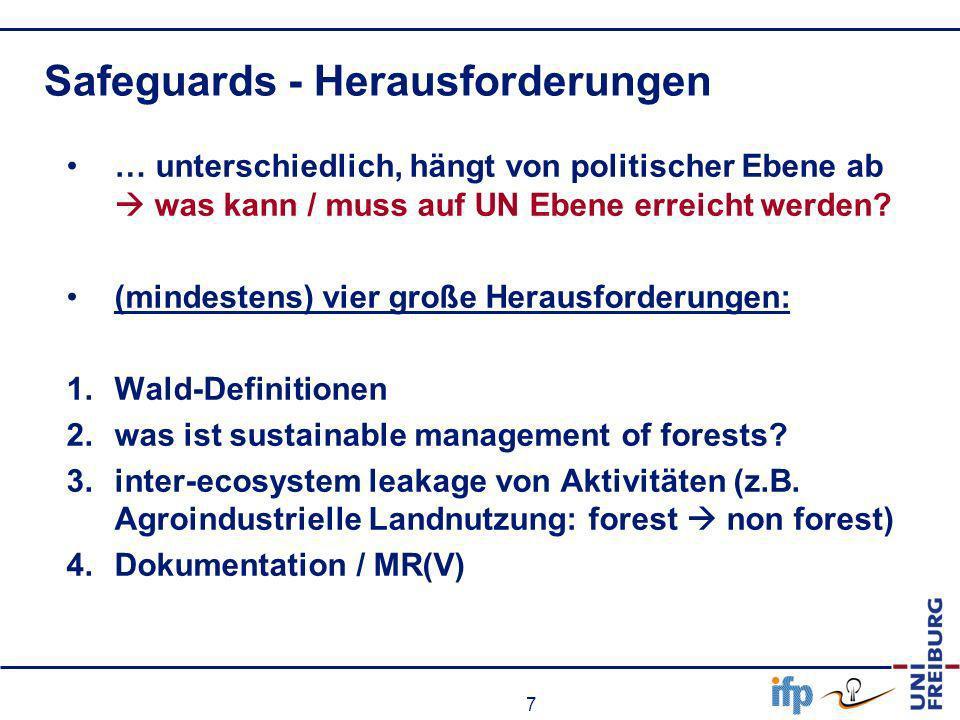 Safeguards - Herausforderungen
