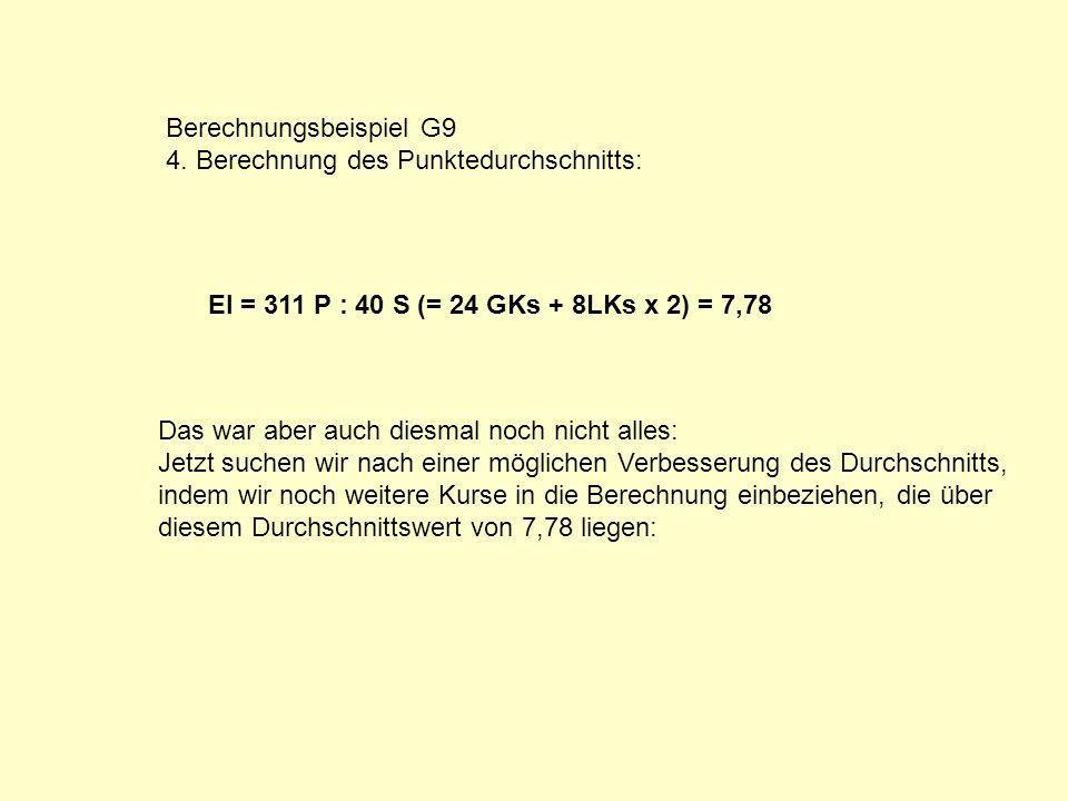 Berechnungsbeispiel G9