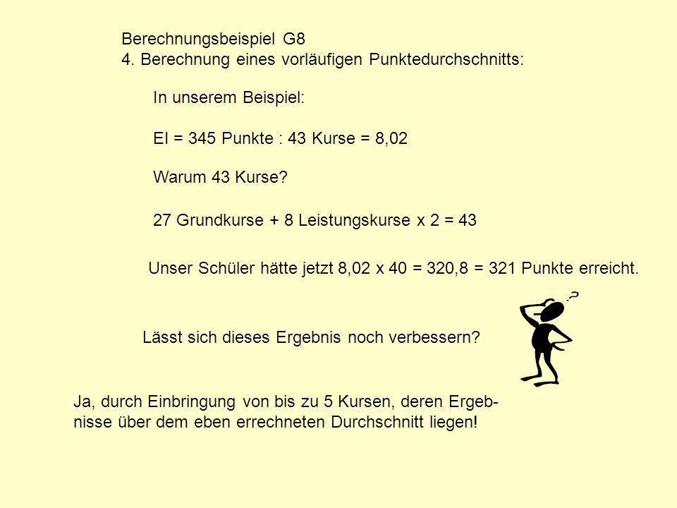 Berechnungsbeispiel G8