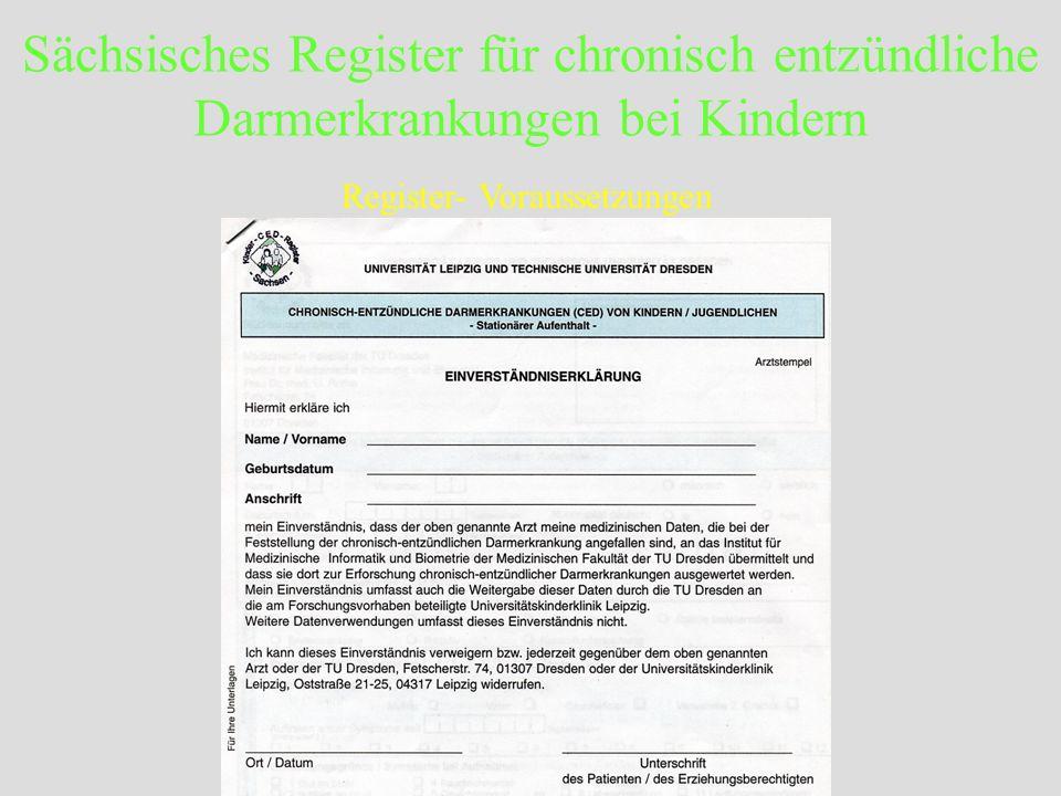 Register- Voraussetzungen