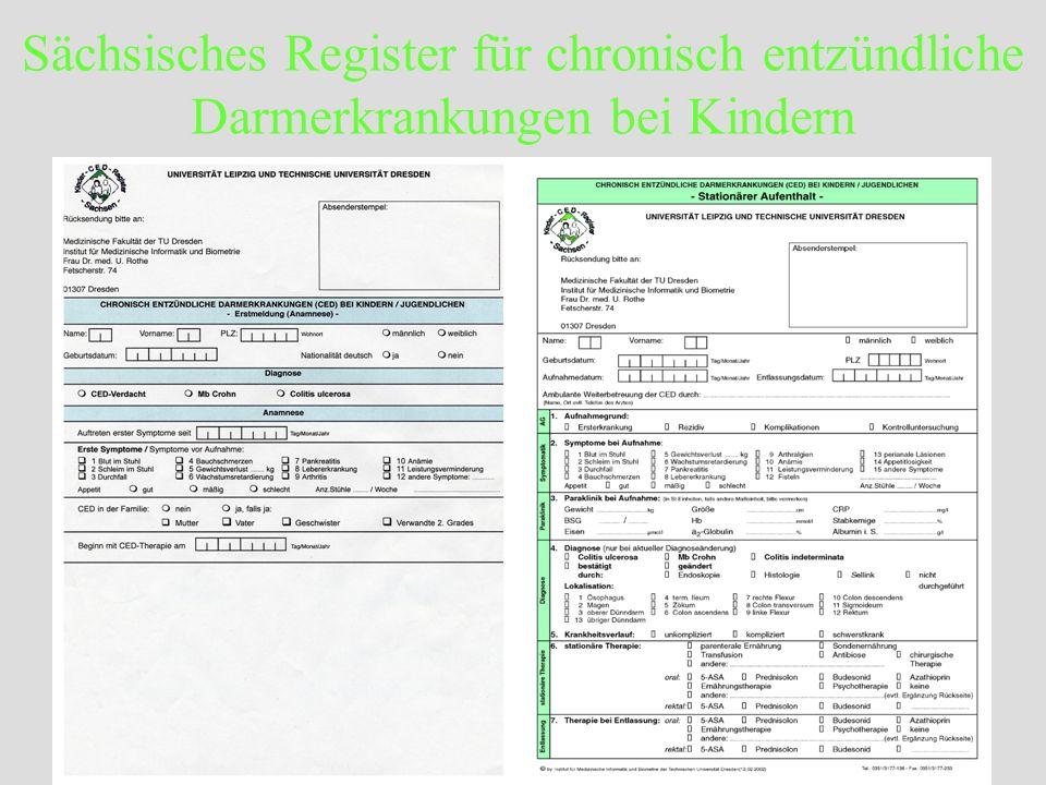 Sächsisches Register für chronisch entzündliche Darmerkrankungen bei Kindern