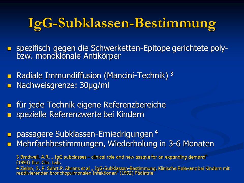 IgG-Subklassen-Bestimmung