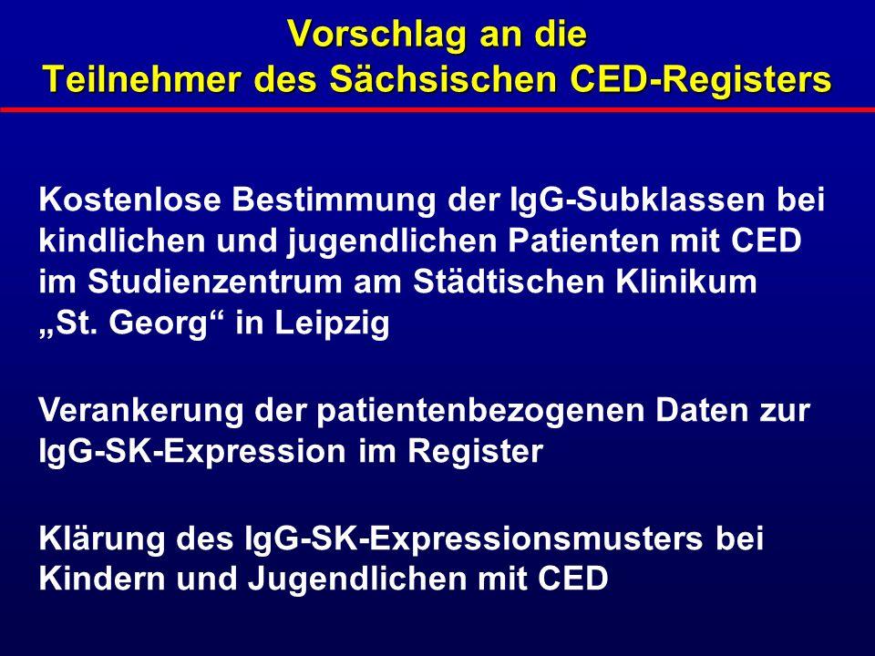 Vorschlag an die Teilnehmer des Sächsischen CED-Registers