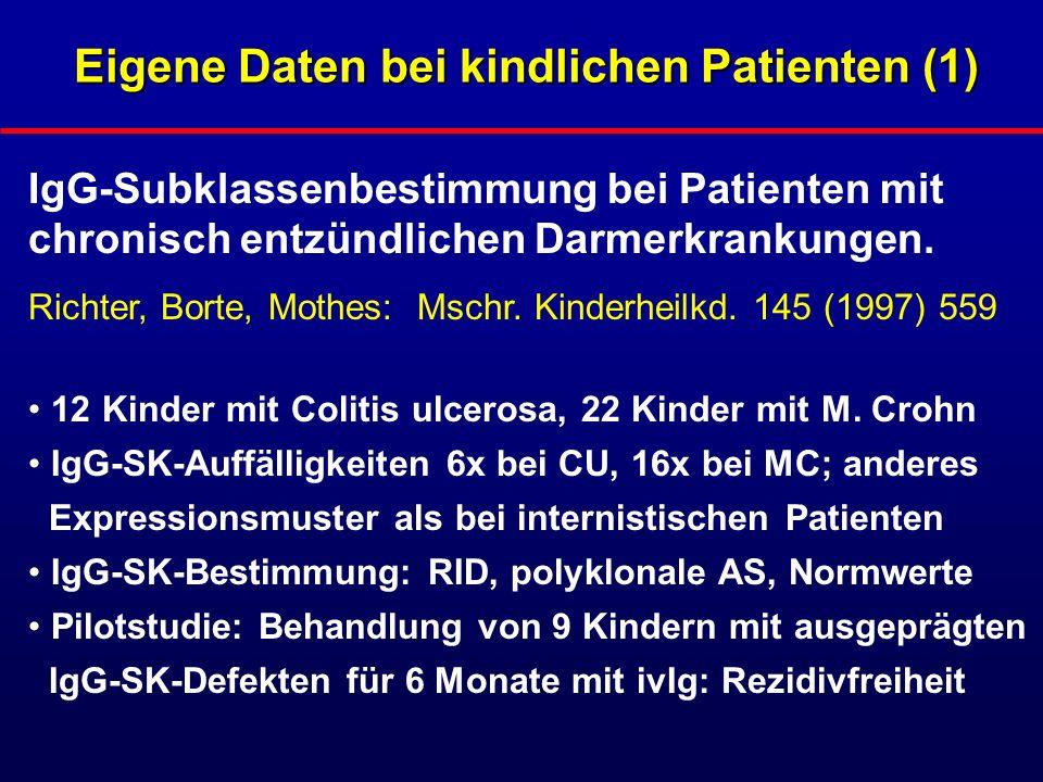 Eigene Daten bei kindlichen Patienten (1)