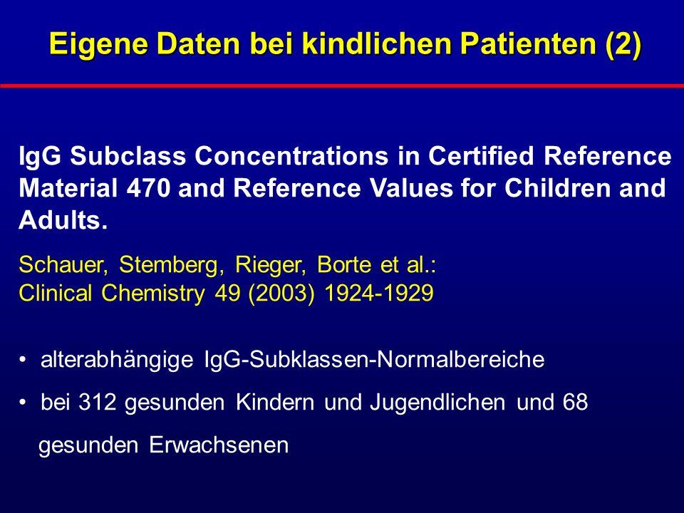 Eigene Daten bei kindlichen Patienten (2)