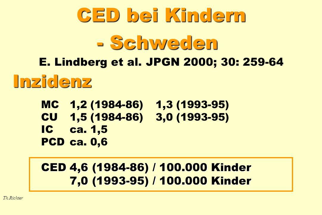 CED bei Kindern - Schweden E. Lindberg et al. JPGN 2000; 30: 259-64